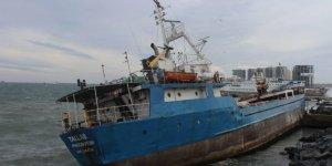 Zeytinburnu'nda yük gemisi karaya oturdu