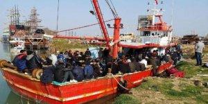Balıkçı teknesinde 208 kaçak yakalandı