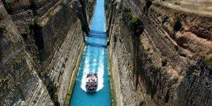 Gemilerin Korint Kanalı'ndan geçişi yasaklandı