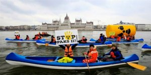 Greenpeace'ten Tuna Nehri'nde nükleer protestosu