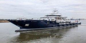 116 metrelik süperyat U116 deniz testlerine başladı