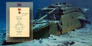 Titanik Yemek Menüsü, Açık Arttırmayla Satıldı