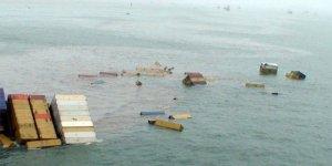 Gemiden düşen konteynerler kayboldu