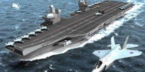 Queen Elizabeth, ilk savaş uçağının inişine hazırlanıyor