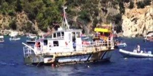 Denizcilik ve Kabotaj Bayramı'nda gemi batırıldı