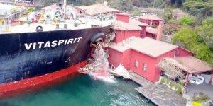 Geminin çarptığı tarihi yalı onarılıyor