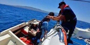 Bodrum'da denizde 9 kaçak yakalandı