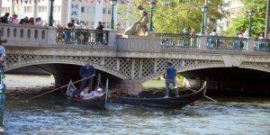 Eskişehir'de Venedik'i andıran gondol keyfi
