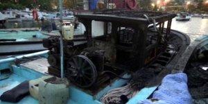 Ereğli'de balıkçı teknesi yandı