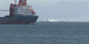 İstanbul açıklarında teknede yangın!