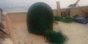Balıkçı ağına bu kez mayın takıldı
