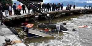 Marmaris'te 7 balıkçı teknesi battı