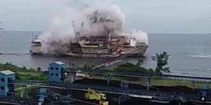 Karadeniz Power Ship enerji gemisinde patlama