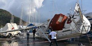 Marmaris'te hortum 8 milyon lira zarara neden oldu