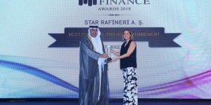 """Star Rafineri'ye """"En İyi Finansal Proje Yönetimi"""" Ödülü"""