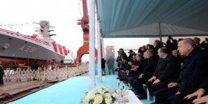 Türkiye'nin ilk istihbarat gemisi Ufuk denize indirildi