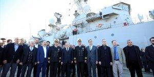 Trabzon'da deniz üssünün ilk gemisi demirledi