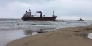 İtalya'da Türk gemisi karaya oturdu