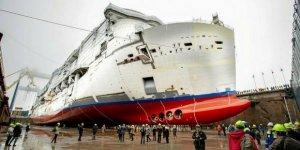 Tersanedeki Costa gemisinde yangın