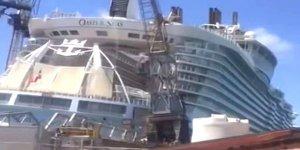 Yolcu gemisinin üzerine vinç düştü: 8 yaralı
