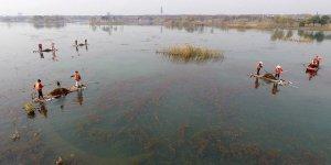 Doksan adalı göl Tai Hu