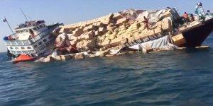 Basra Körfezi'nde yük gemisi battı