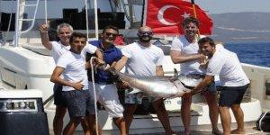 Didim'de açık deniz sportif balık avı yarışması