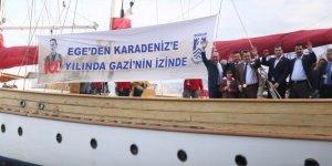 STS Bodrum okul gemisi Teos Marina'ya geliyor