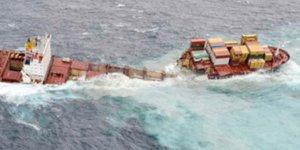 Japonya açıklarında iki yük gemisi çarpıştı