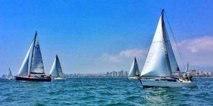 Açık denizdeki yat yarışlarına büyük ilgi