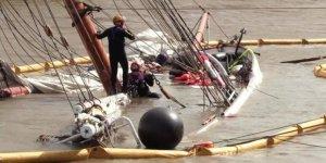 Tarihi yelkenli suya gömüldü!