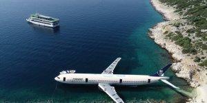 Dev uçak Saros Körfezi'nde batırıldı