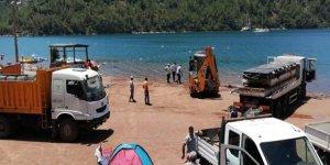 Kızkumu'nda ruhsatsız su sporları parkuru kaldırıldı