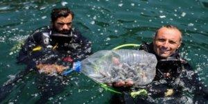 Antalya'da deniz dibinde kurşun tehdidi