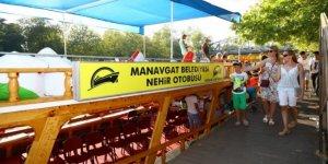 Manavgat'ta ücretsiz nehir otobüsü seferi