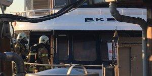 Üsküdar'da yolcu teknesi yandı