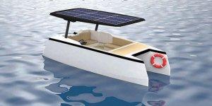 Hedefte güneş enerjili yüzebilen karavan var