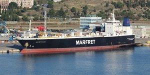Marsilya'da Ro Ro gemisinde yangın
