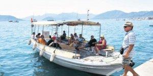 Marmaris'in tekne dolmuşları ilgi çekiyor