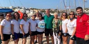 Barış elçisi kadın denizciler Lipsi Adası'nda