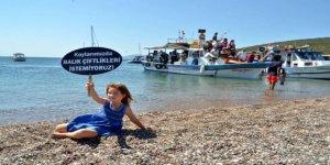 Sığacık'da balık çiftliği protesto edildi