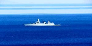 NATO gemisi, Kuzey Ege'de devriyede