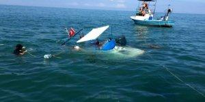 Batan teknenin imdadına balıkçılar yetişti