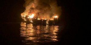 Balıkçı gemisinde yangın