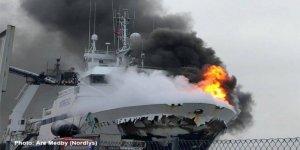 Rus bayraklı gemide yangın