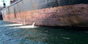 Körfezi kirleten gemiye 1 milyon 772 bin lira ceza
