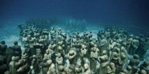 Su altında 450 insan...