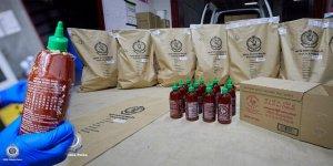 Acı biber sosu şişelerinde uyuşturucu bulundu