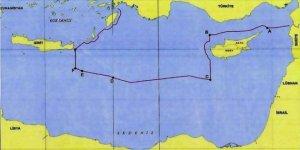 Türkiye'nin Doğu Akdeniz'deki kıta sahanlığı haritası