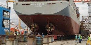 Canlı balık taşıma gemisi Aqua Havsøy, denize indirildi